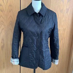 Authentic Burberry Black Brit Quilted Jacket Sz-XS